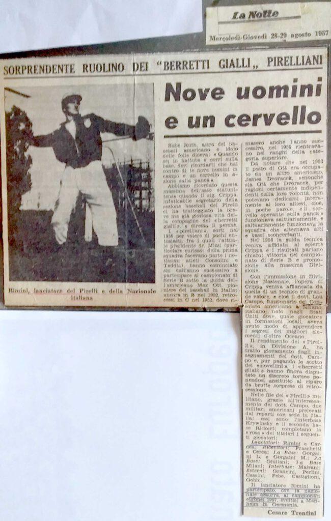 Rimini , cervello della PIRELLI
