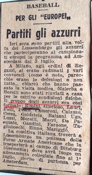 1958 Partenza azzurri