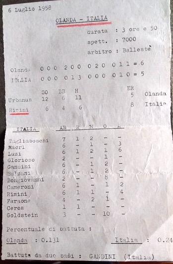 1958 Europeo Baseball